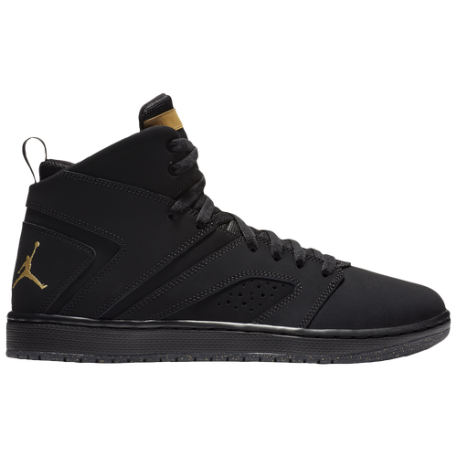 Jordan Flight Legend - Men's - Basketball - Shoes - Black/Metallic  Gold/Black