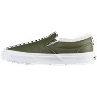 0b51b71daa Vans Classic Slip On - Women s - Olive Green   White