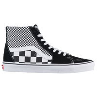black and white mens vans