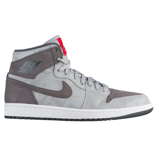 Jordan AJ 1 High  Mens  Basketball  Shoes  Wolf GreyDark GreyWhite