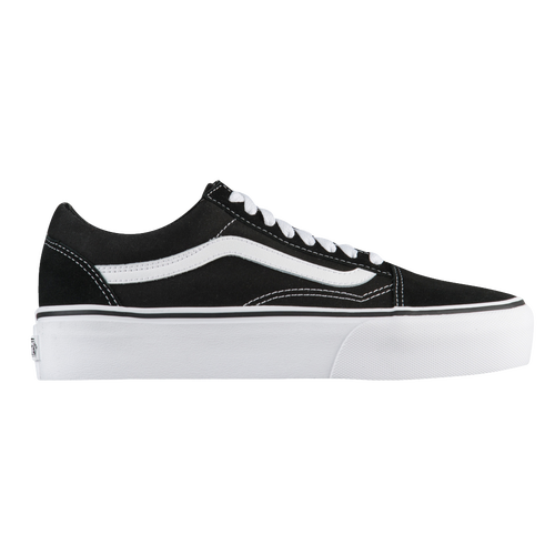 vans old skool black women platform
