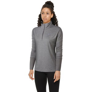 Nike Element 1/2 Zip Top - Women's - Gun Smoke/Atmosphere Grey/Heather