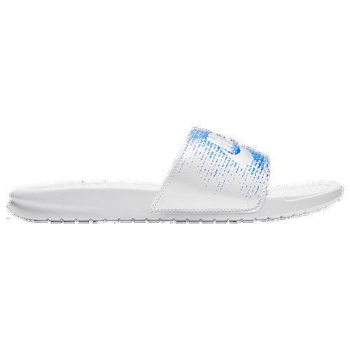 2b6cb250325e Nike Benassi JDI Slide - Men s - Casual - Shoes - White Red Blue