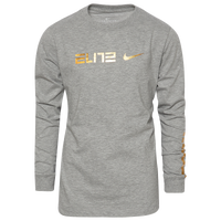 Nike Metallic Elite Compression T-Shirt - Boys' Grade School - Grey