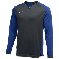 Nike Team BP Crew - Men's - Grey / Blue