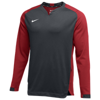 Nike Team BP Crew - Men's - Grey / Red