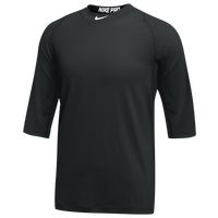 Nike Team Pro Cool 3/4 Sleeve Top - Men's - Black