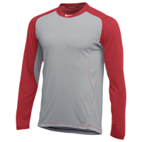 Nike Team All Day Baseball Top - Men's - Grey / Red
