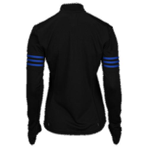 adidas Response 1/2 Zip - Women's Running - Black/Bold Blue AA0640