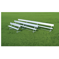 Fisher Athletic Team Aluminum Bench With Backrest