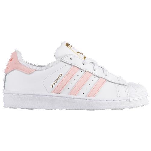 adidas Originals Superstar - Girls\u0027 Preschool - White / Pink