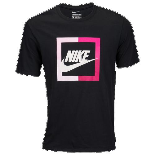Nike graphic t shirt men 39 s casual clothing black for Mens dark pink dress shirt