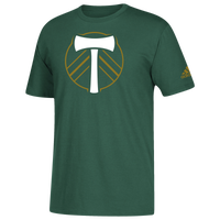 adidas MLS Logo Squad Primary T-Shirt - Men's - Portland Timbers - Dark Green