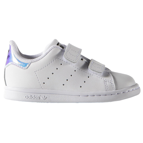 adidas Originals Stan Smith - Girls\u0027 Toddler - Casual - Shoes - Silver  Metallic/White/White