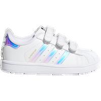 adidas Originals Superstar - Girls' Toddler - White / Silver