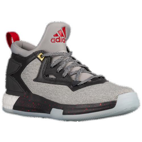 Adidas Men D Lillard 2.0 - Medium Grey/Scarlet/Dark Grey
