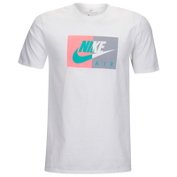 Nike Graphic T-Shirt - Men's Casual - White/Grey/Pink AR021310