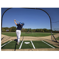 ProMounds Lined Batting Mat Pro - Dark Green / White