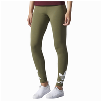 a41706b92c8fa adidas Originals Trefoil Leggings - Women's - Olive Green / White