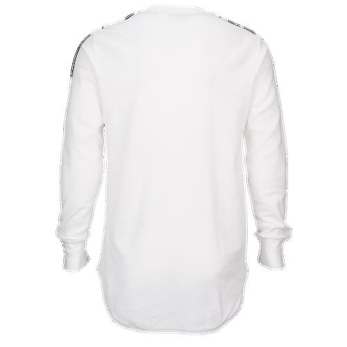 adidas Originals Brand Waffle Long Sleeve T-Shirt - Men's Casual - White/Black AY9291