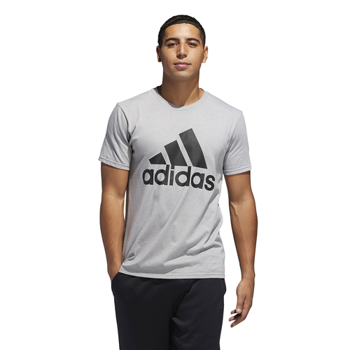 adidas Athletics Badge of Sport Classic T-Shirt - Men's - Casual - Clothing  - Medium Grey Heather/Black