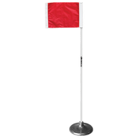 Kwik Goal Premier Corner Flags With Base - Red