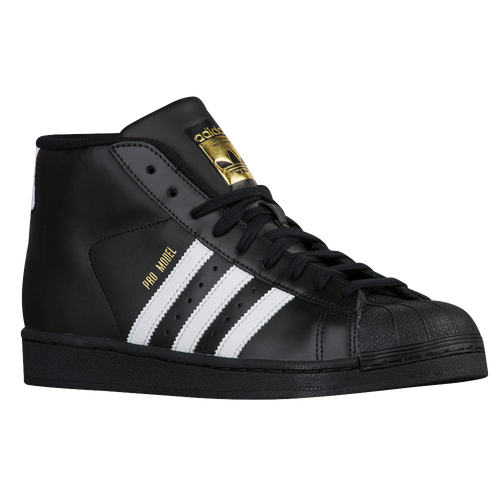 Adidas Mens Pro Model Sneaker Black With White Stripe Size 14.5 M US