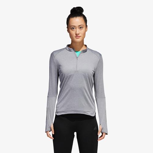 adidas Response 1/2 Zip - Women's Running - Grey B47695
