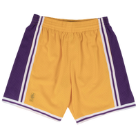Mitchell & Ness NBA Swingman Shorts - Men's - Los Angeles Lakers - Gold / Purple