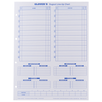 Glover's Dugout Line-Up Charts