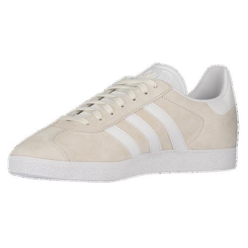 adidas Originals Gazelle Men 's White/White/Metallic Old Gold BB5475