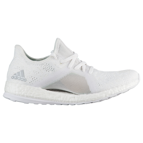 adidas Pure Boost X Element - Women's - Running - Shoes - White/Grey Two/ Green