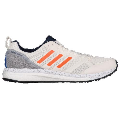 adidas adiZero Tempo 9 - Men's - Running - Shoes - Off White/Hi-Res  Orange/College Navy