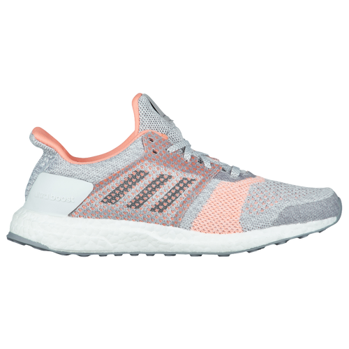 7c9ccaa7c3c adidas Ultra Boost ST - Women s - Running - Shoes - Crystal White Grey Four Clear  Orange
