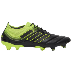 adidas Copa 19.1 FG - Men's - Core Black/Solar Yellow