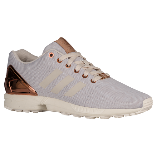 adidas Originals ZX Flux - Men's - Casual - Shoes - White/Pearl Grey/Copper  Metallic