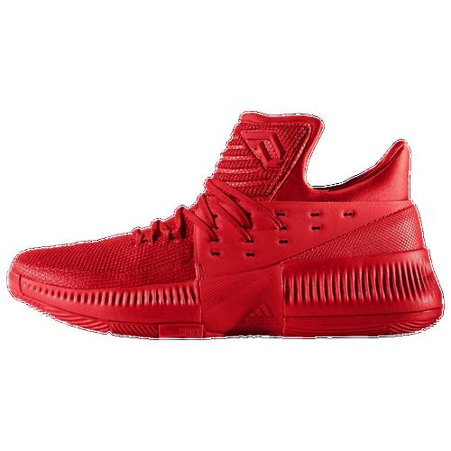 adidas Dame 3 - Men\u0027s - Basketball - Shoes - Lillard, Damian -  Scarlet/Burgundy/Grey