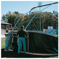 Jaypro Grand Slam Portable Batting Cage - Dark Green / Dark Green