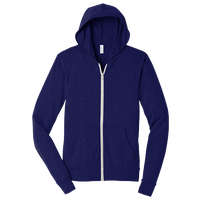 Bella+Canvas Triblend Full-Zip Hoodie - Adult - Navy