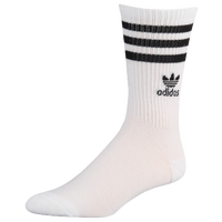 adidas Originals Trefoil Roller Crew Socks - Women's - White / Black