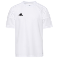 adidas Team Squadra 17 S/S Jersey - Boys' Grade School - All White / White