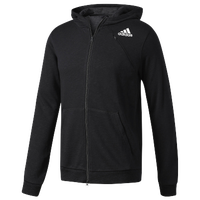 3b3f582a015 adidas Cross-Up Full Zip Hoodie - Men's - All Black / Black