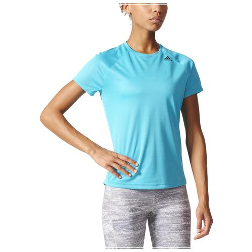 adidas Sequencials Run Short Sleeve T-Shirt - Women's Running - Energy Blue BK2715