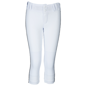 Champro Tournament Low Rise Softball Pants - Girls' Grade School - White/Black