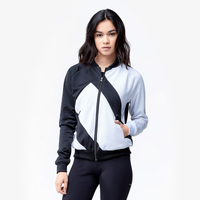 Navy adidas track jacket women's