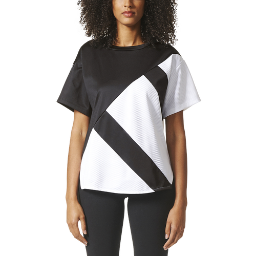 adidas Originals EQT Short Sleeve Top - Women's Casual - Black/White BP5106