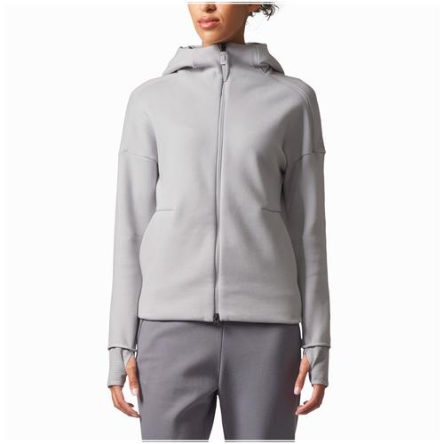 adidas Athletics ZNE 2.0 Pulse Full-Zip Hoodie - Women's Casual - Grey BQ0099