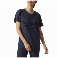 c6d403e310efa8 adidas Originals St. Petersburg Velvet 3 Stripe T-Shirt - Women's - Navy /