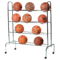 Athletic Specialties Portable Ball Cart - Silver / Silver