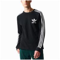 480d314cc adidas Originals 3-Stripes Pique L S T-Shirt - Men s - Black